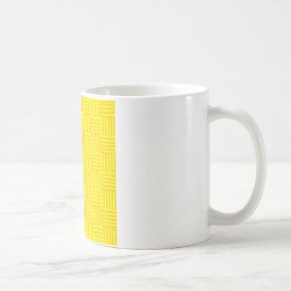 V&Hは-黄色および蜜柑の黄色縞で飾ります コーヒーマグカップ