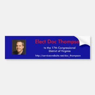VAの第17地区にDOCトムソンを、選んで下さい バンパーステッカー