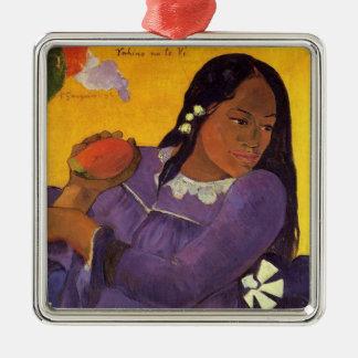 Vahine Te無しVI - Gauguinのオーナメント メタルオーナメント