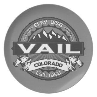 Vailのロゴの灰色 プレート