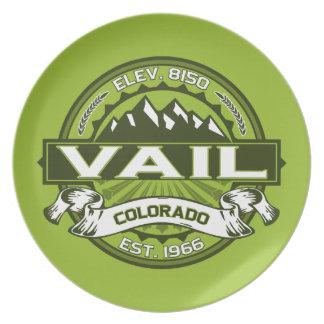 Vailのロゴの緑 プレート