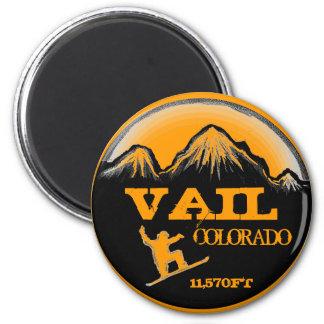 Vailコロラド州のオレンジスノーボードの芸術の磁石 マグネット