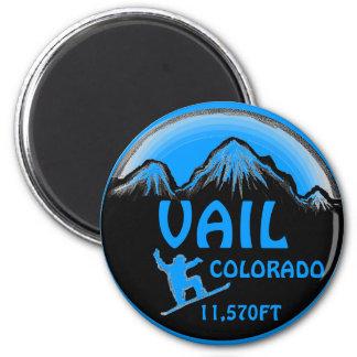 Vailコロラド州の青いスノーボードの芸術の磁石 マグネット