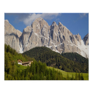 ValのディディミアムFunes、Villnosstalのドロマイト、イタリア ポスター