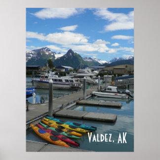 Valdez、アラスカ ポスター