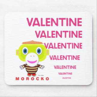 Valentine-Cute Monkey-Morocko マウスパッド