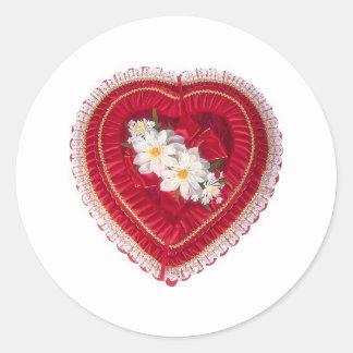 Valentine' s -ハート箱 ラウンドシール