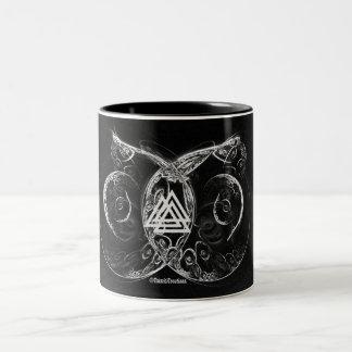 VALKNUT. バイキングの上昇 ツートーンマグカップ