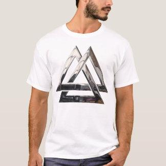 Valknut -銀 tシャツ