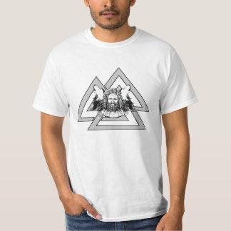 VALKNUT ODINのワタリガラスのオオカミの価値ワイシャツ Tシャツ