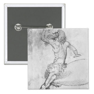 Vallardiのアルバムからのケンタウルス、 5.1cm 正方形バッジ