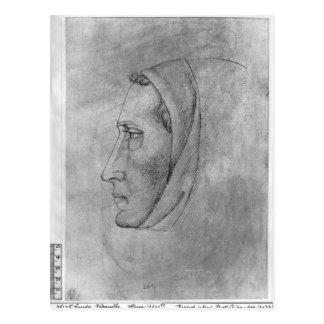 Vallardiのアルバムからの修道士の頭部、 ポストカード