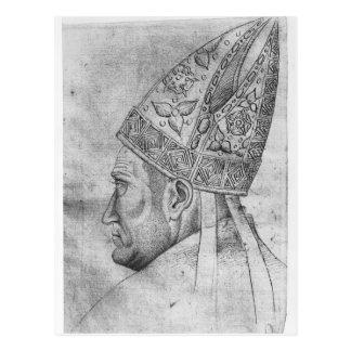 Vallardiのアルバムからの司教の頭部、 ポストカード