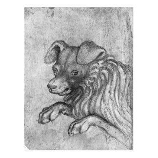 Vallardiのアルバムからの犬の頭部、 ポストカード