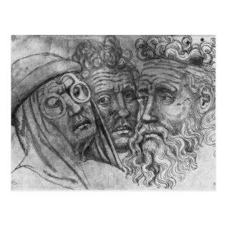 Vallardiのアルバムからの3人の頭部、 ポストカード