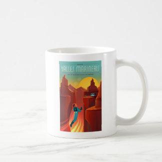 Valles Marinerisの火星の宇宙旅行 コーヒーマグカップ