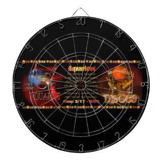 Valxartのアクエリアスの魚類の(占星術の)十二宮図の先端 ダーツボード