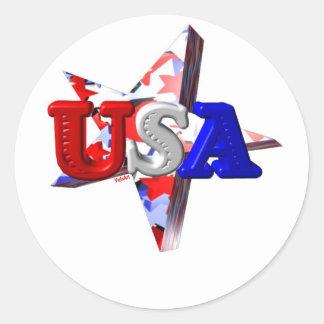 Valxartの米国の流星 ラウンドシール
