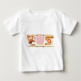 ValxArtの(占星術の)十二宮図の地球のオンドリの生まれる蟹座1969年 ベビーTシャツ