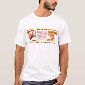 ValxArtの(占星術の)十二宮図の地球のオンドリの生まれる蟹座1969年 Tシャツ