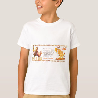 ValxArtの(占星術の)十二宮図の木製のオンドリの生まれる蟹座1945 2005年 Tシャツ
