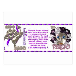 ValxArtの(占星術の)十二宮図の《星座》乙女座の金属の馬1930年1990年 ポストカード