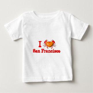 Valxartサンフランシスコのイベントのカニのデザイン ベビーTシャツ