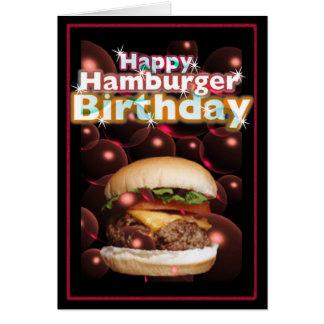Valxart著幸せなハンバーガーの誕生日 カード
