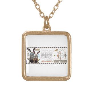 Valxart 1951 2011年のMetalRabbitの(占星術の)十二宮図の射手座 ゴールドプレートネックレス