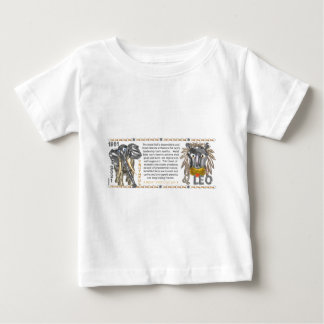 ValxArt 1961の中国人の(占星術の)十二宮図の金属の雄牛ウシ生まれるレオ ベビーTシャツ
