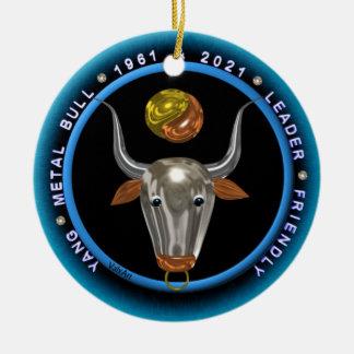 Valxart 1961 2021年のMetalBullの(占星術の)十二宮図の《星座》乙女座 陶器製丸型オーナメント