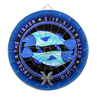 Valxart 1967 2027頭の火のヒツジの(占星術の)十二宮図魚類 ダーツボード