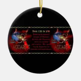 Valxart.com著ゴシック様式アクエリアスの(占星術の)十二宮図の占星術 セラミックオーナメント