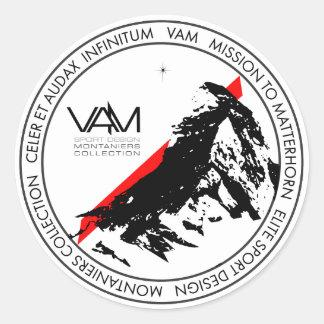 VAM: マッターホルンMontaniers Zermattのステッカー ラウンドシール