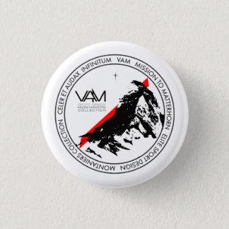 VAM: マッターホルンZermattのスイス人ボタン 3.2cm 丸型バッジ