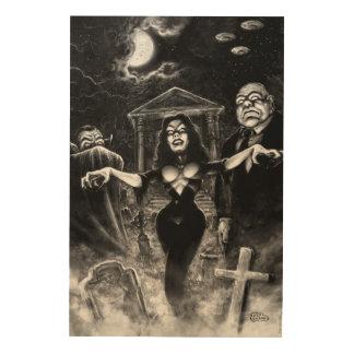 Vampiraの計画9のゾンビ ウッドウォールアート