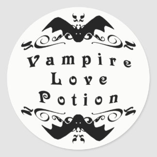Vampire Love Potion Halloween ラウンドシール