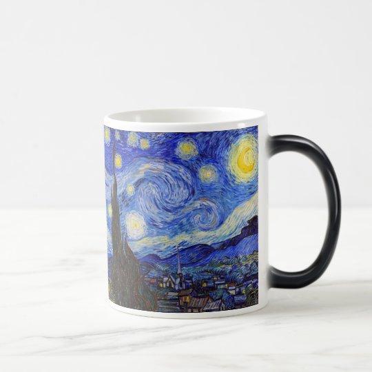 "Van Gogh , ""Starry Night"" マジックマグカップ"