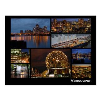 Vancouver at night multi-image ポストカード