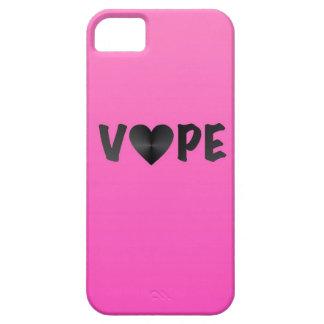 Vapeのかわいらしいピンクの黒いハート iPhone SE/5/5s ケース