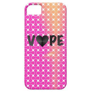 Vapeのピンクの黄色いレトロのハート iPhone SE/5/5s ケース