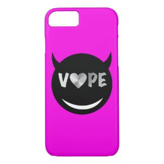 Vapeのピンクの黒い銀製のハート iPhone 8/7ケース