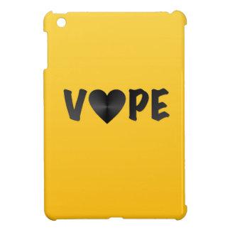 Vapeの明るく黄色く黒いハート iPad Mini カバー