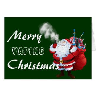 VAPE |メリーなVapingサンタのクリスマス カード
