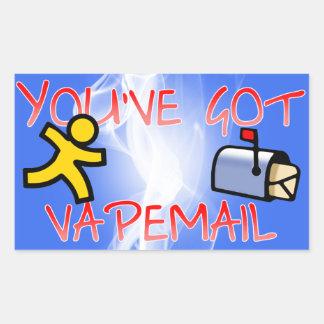 Vapemailのステッカーを持っています 長方形シール