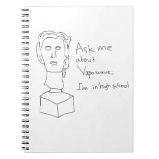 vaporwaveのノートについて私に尋ねて下さい ノートブック