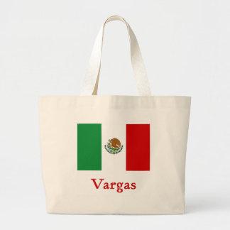 Vargasのメキシコ旗 ラージトートバッグ