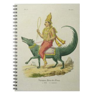 VarunaのチャールズEti著刻まれる海洋の神 ノートブック