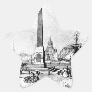 Vasily著セント・ピーターズバーグのRumyantsev記念碑… 星シール