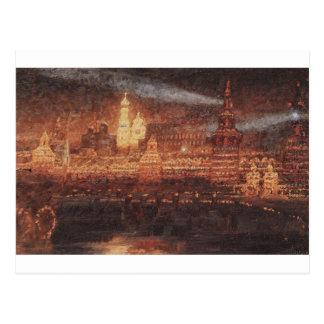 Vasily Surikov著モスクワの照明 ポストカード